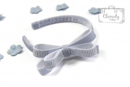 BEAUTIFUL GREY HEADBAND WITH BOWS